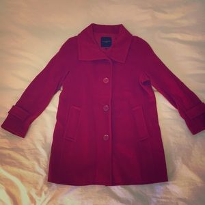 Gorgeous Talbots Red Wool Pea Coat